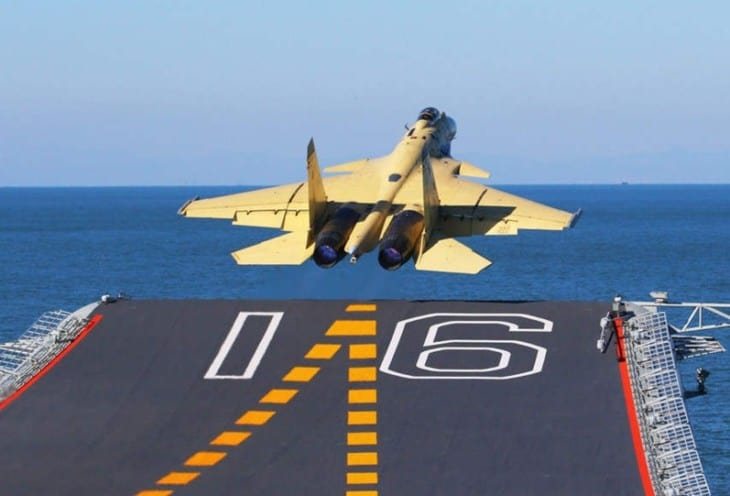 J 15 fighter rear