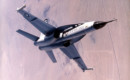Northrop YF 17 in flight.