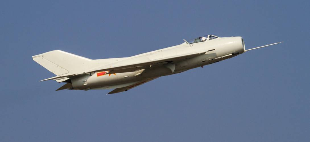 Shenyang J 6 fighter at Zhuhai Airshow 2010