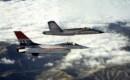 YF 16 and YF 17 in flight.