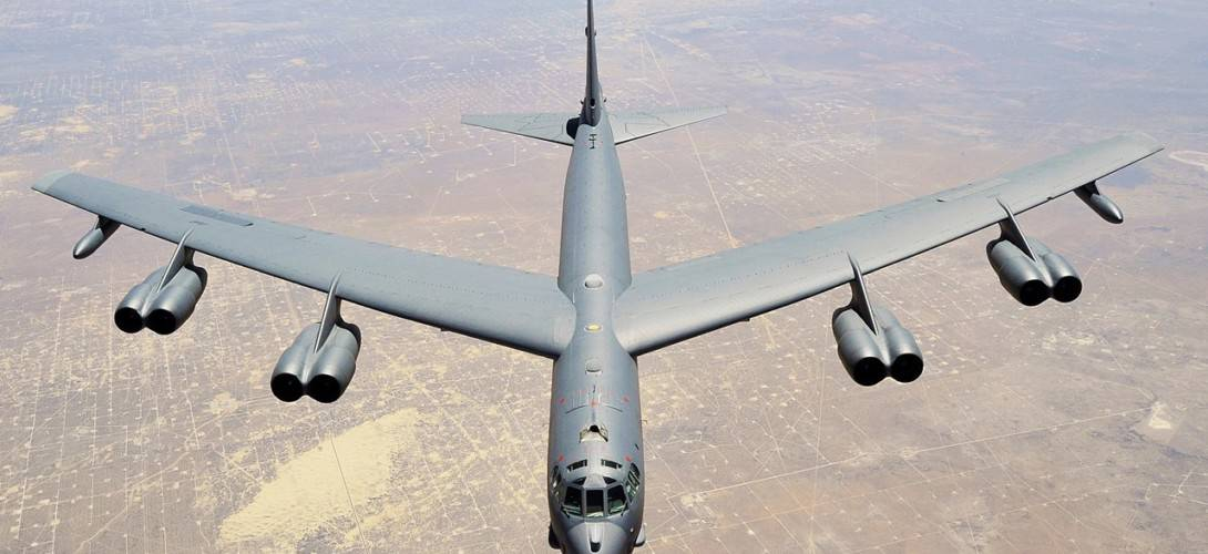 B 52 Stratofortress assigned to the 307th Bomb Wing.