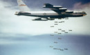 Boeing B 52 dropping bombs.