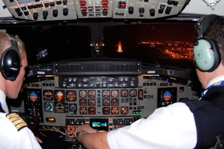 British Aerospace ATP Cockpit West Air Europe