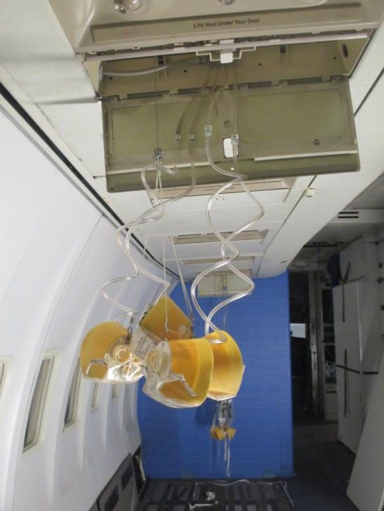 Emergency Oxygen masks dropping down