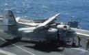 Grumman C 1 wings folded aboard USS Lexington.