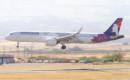 Hawaiian Airlines Airbus A321 271N landing.