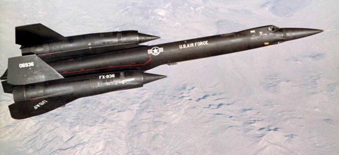Lockheed YF 12A flying.