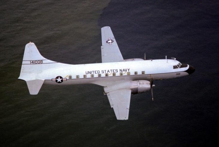 U.S. Naval Air Reserve Convair C 131F Samaritan in flight