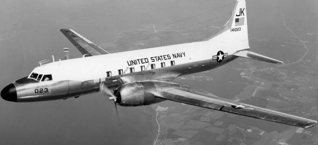 U.S. Navy Convair C 131F Samaritan from Transport Squadron VR 1