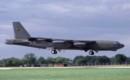 USAF Boeing B 52G Stratofortress landing.