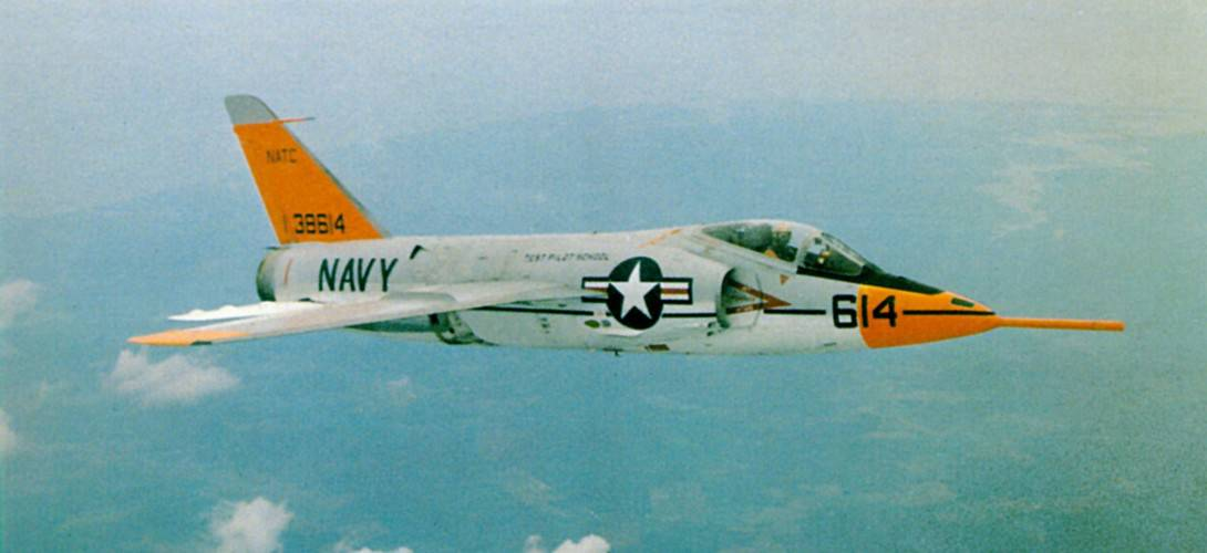 A Navy Grumman F11F 1 Tiger BuNo 138614 from the Naval Air Test Center
