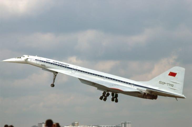 Aeroflot Tupolev Tu 144 taking off