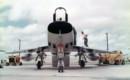 Front view of a U.S. Air Force North American F 100D Super Sabre.