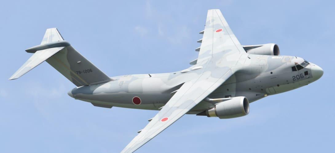 JASDF C 2 fly over at Miho Air Base