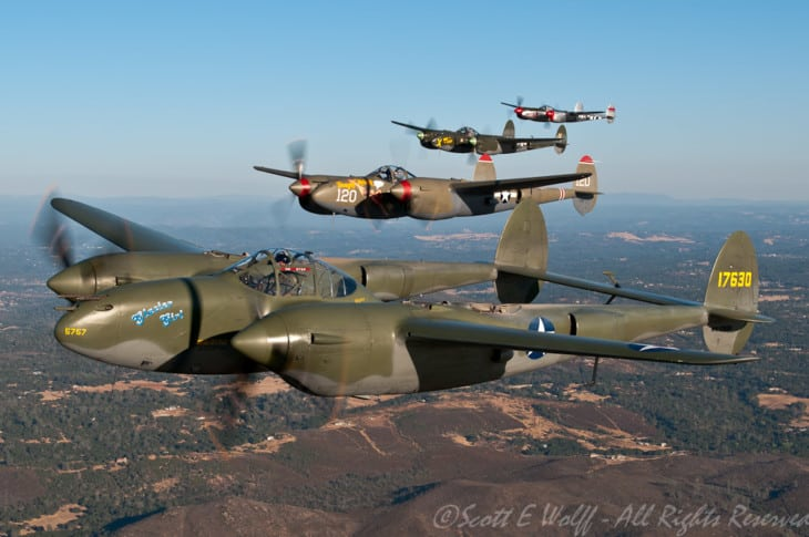 Lockheed P 38 Lightnings