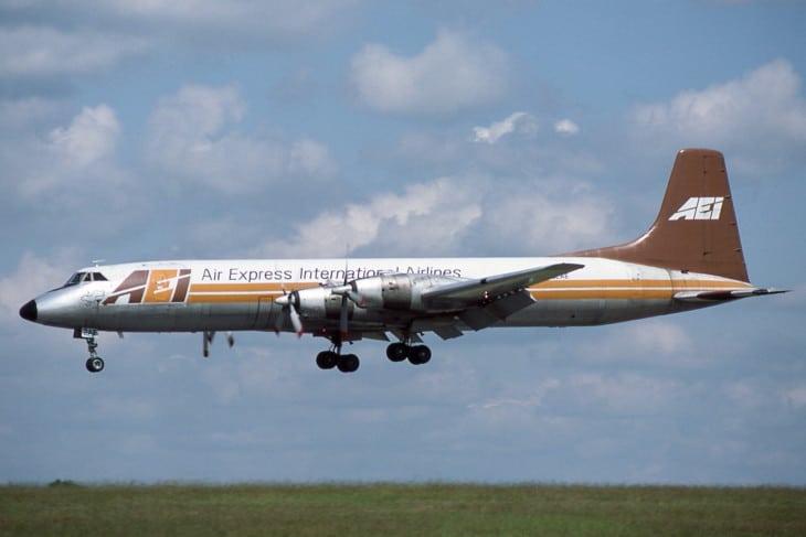 N122AE Canadair CL 44D 4 Air Express International