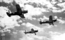 North American BT 14 in a Three Ship Formation