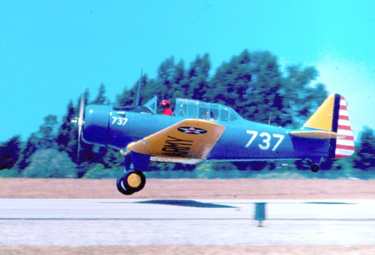 North American Yale painted as an Air Corps BT 14.
