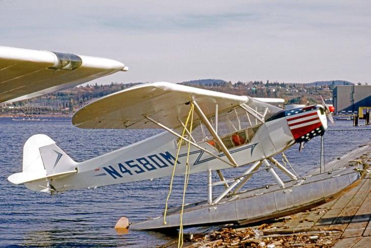 Piper PA 11S Cub Special floatplane N4580M