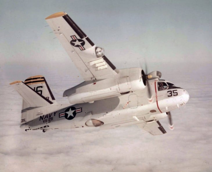 U.S. Navy Grumman S2F 1 Tracker from Antisubmarine Squadron VS 29 Tromboners in flight