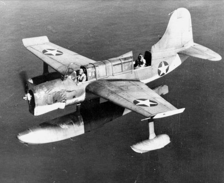 A U.S. Navy Curtiss SO3C 1 Seamew in flight.