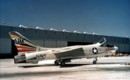 A U.S. Navy Vought F 8E Crusader of Fighter Squadron VF 194 at NAS.