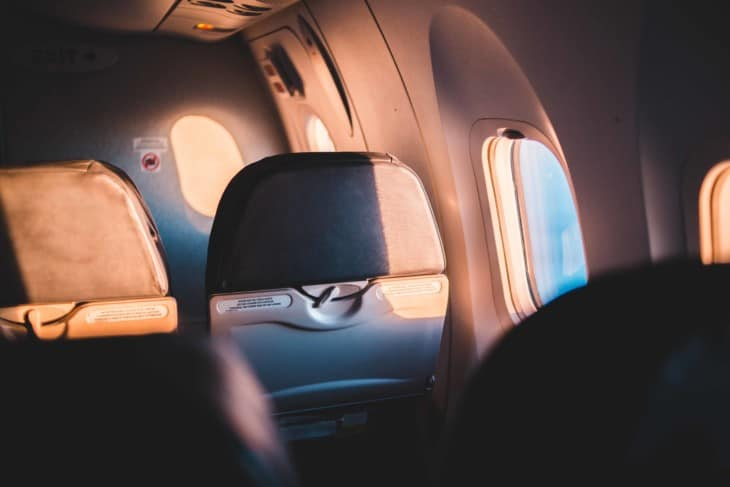 Airplane seats and windows