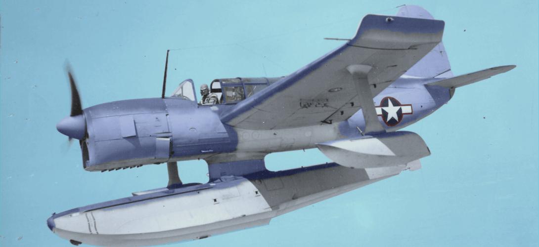 Curtiss SO3C 1 Seamews flight in July 10 1943