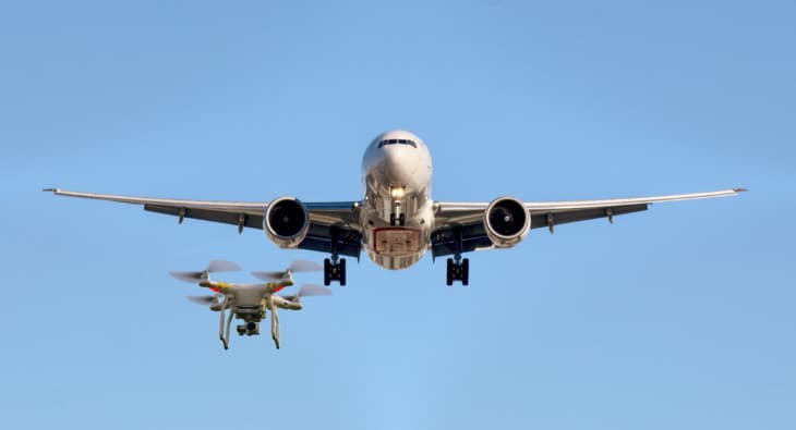 Drone and Airplane