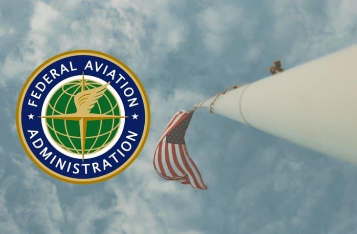 FAA logo and USA flag