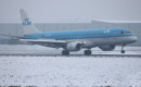 KLM ERJ190 landing at Cardiff on a very wintery day