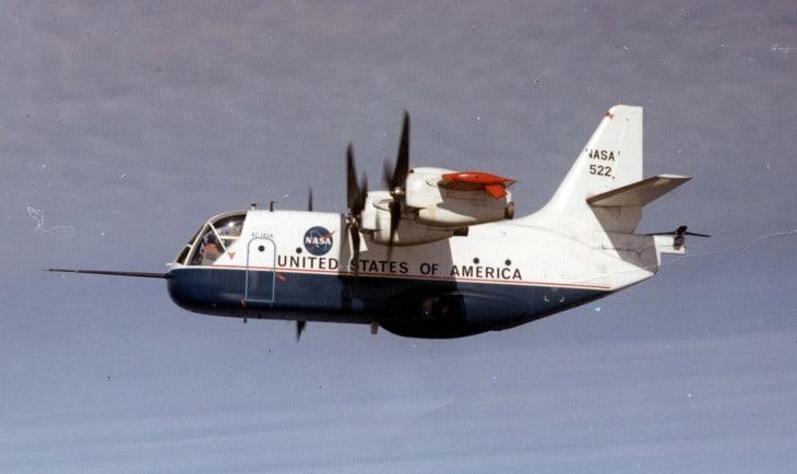 LTV XC 142A in flight.