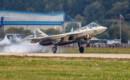 Landing of the Su 57 multipurpose fighter T 50 1