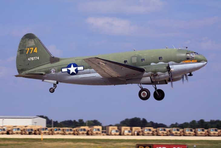 N78774 Curtiss C 46 Commando. Tinker Belle