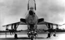Republic F 105B Thunderchief with ordnance load.