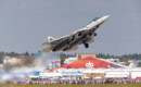 Su 57 T 50 4 multi role fighter taking off.
