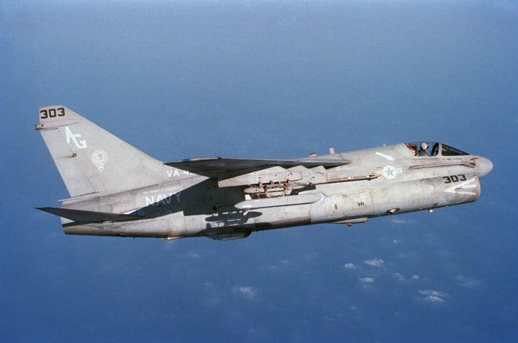 U.S. Navy Ling Temco Vought A 7E Corsair II aircraft from attack squadron VA 46.