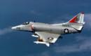 A U.S. Navy Douglas A 4E Skyhawk from Attack Squadron 164.