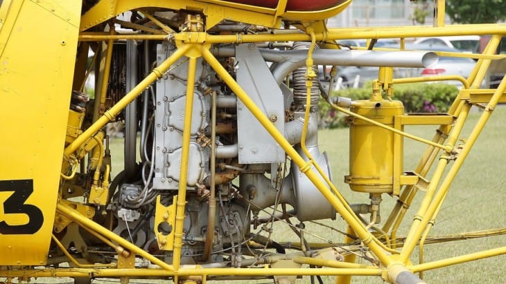 Bell 47G with Lycoming in line engine