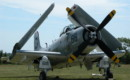 Douglas A 1 Skyraider wings folded