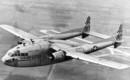 Fairchild C 119 in flight.