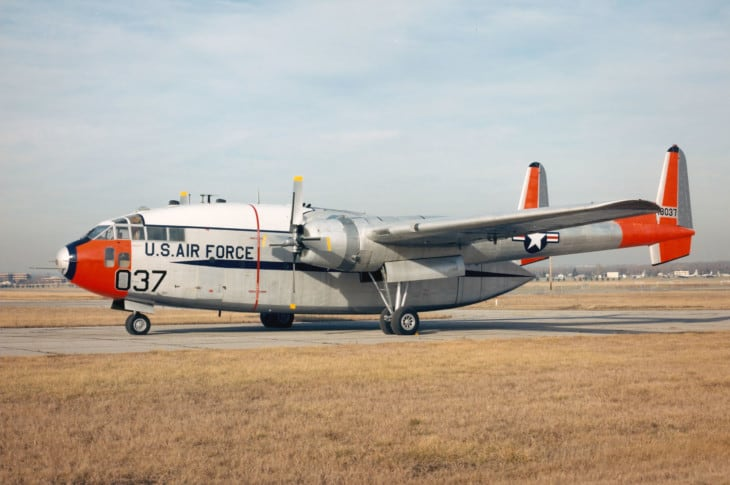 Fairchild C 119J Flying Boxcar at the National Museum of the United States Air Force. 1