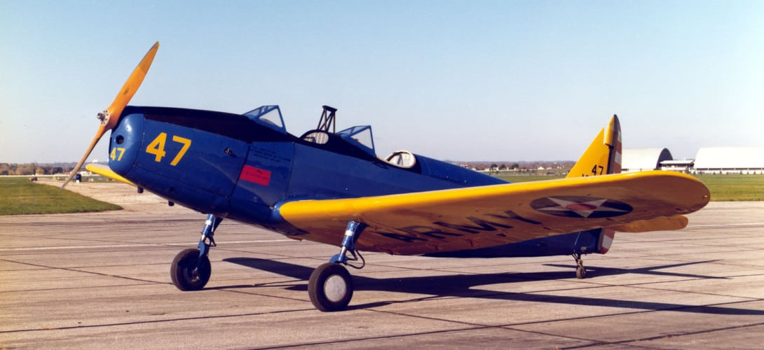 Fairchild PT 19A Cornell at the National Museum of the United States Air Force.