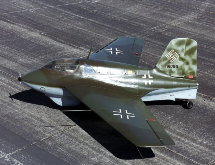Messerschmitt Me 163B at the National Museum of the United States Air Force.