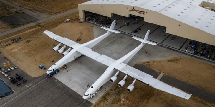 Stratolaunch aircraft by Stratolaunch Systems Corp. Mojave Air and Space Port.