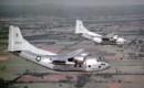 U.S. Air Force Fairchild C 123B 7 FA Provider aircraft in flight.
