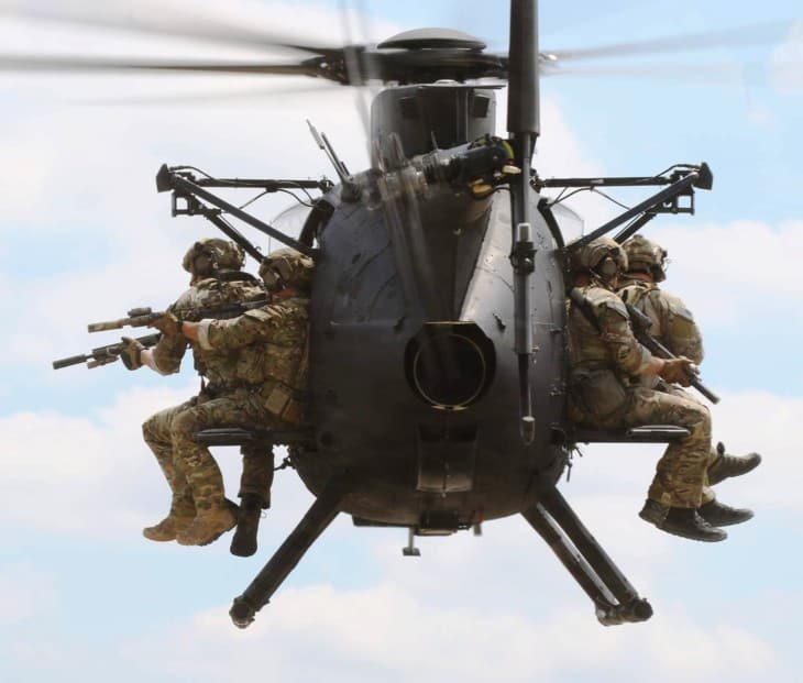U.S. Armys 160th Special Operations Aviation Regiment MH 6M Little Bird.