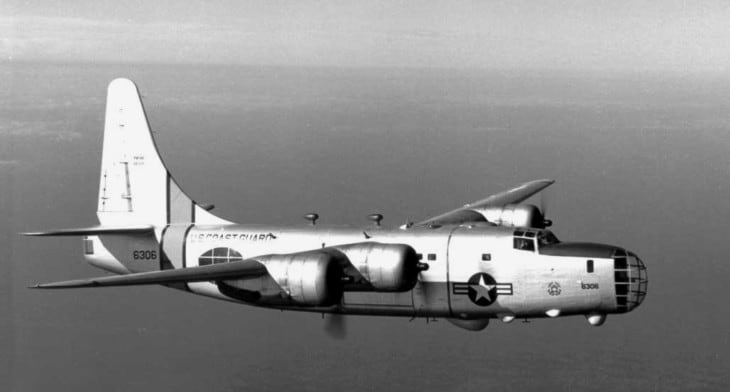 U.S. Coast Guard Consolidated P4Y 2G Privateer in flight circa in the 1950s