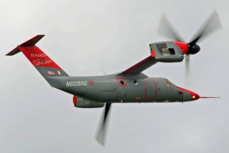 A Bell Agusta BA609 in airplane mode