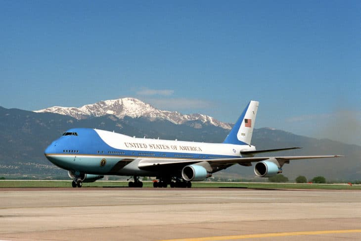 Air Force One on the ground.